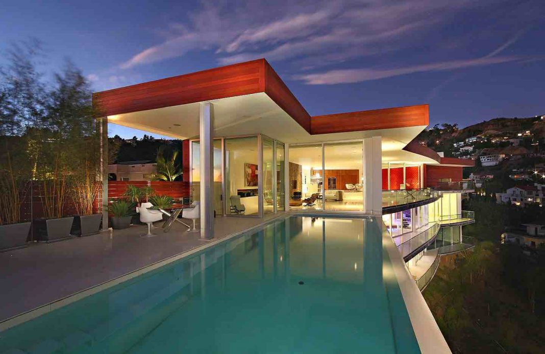 Modern Architectural Masterpiece In Hollywood Hills Caandesign - Hollywood-hills-architectural-masterpiece
