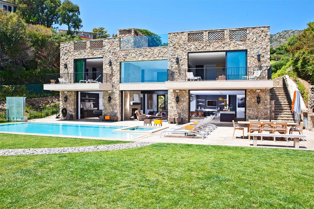 multi-million dollar italian style house on malibu beach