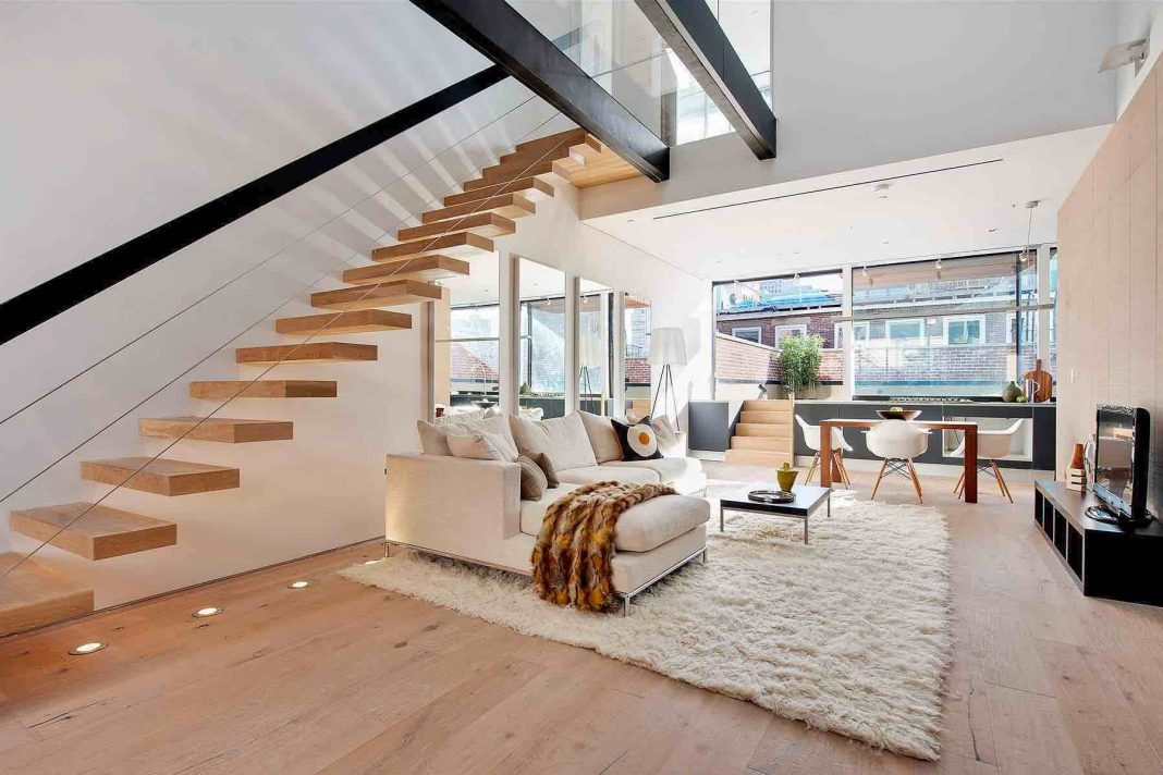 Modern Duplex in Tribeca, New York