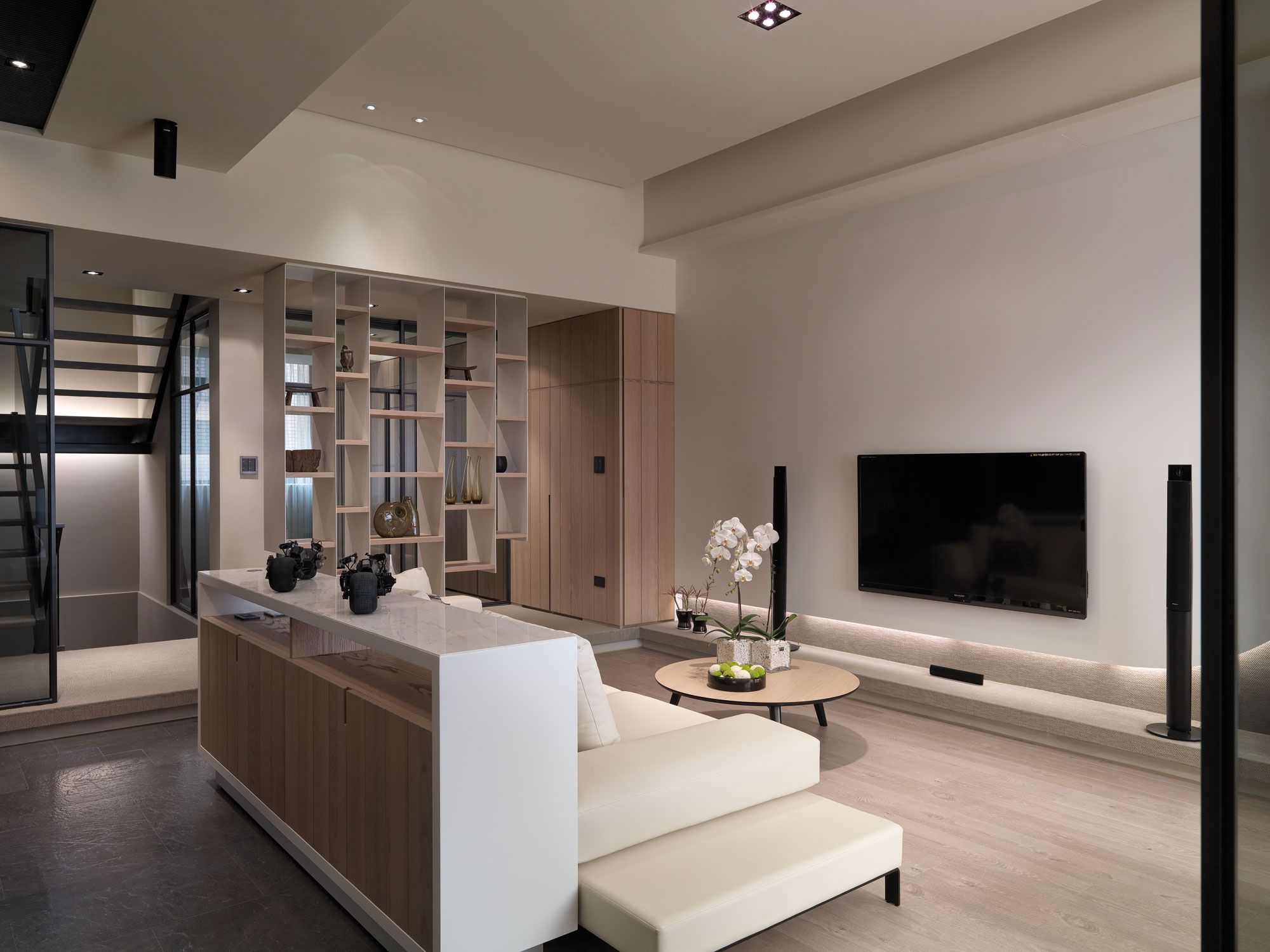 Multilevel contemporary apartment by wch studio - What is contemporary design ...