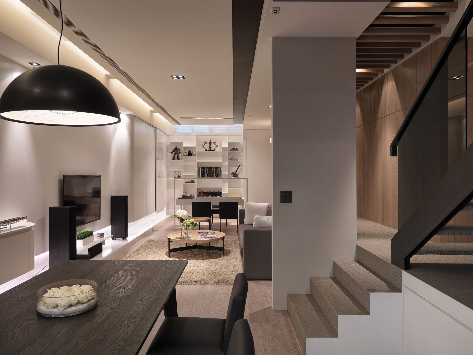 Multilevel contemporary apartment by wch studio caandesign architecture and home design blog - How to design a studi apatment ...