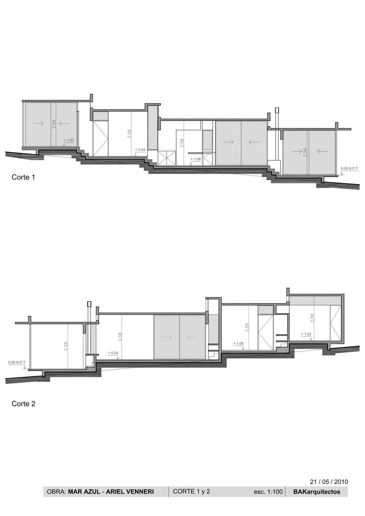 Corte 1 y 2