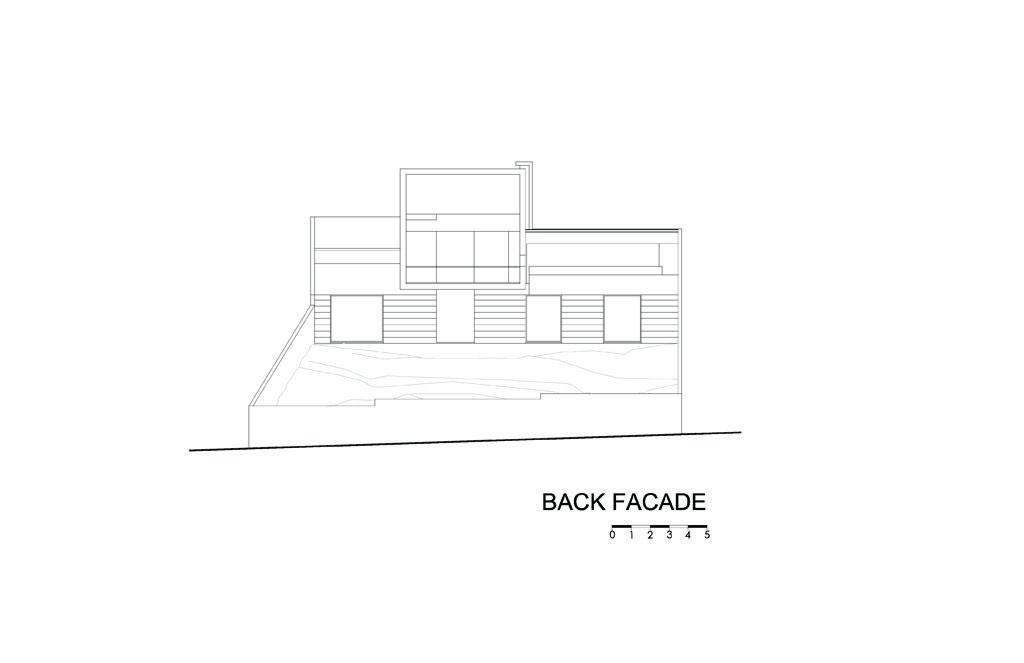 Cubo House Back Facade