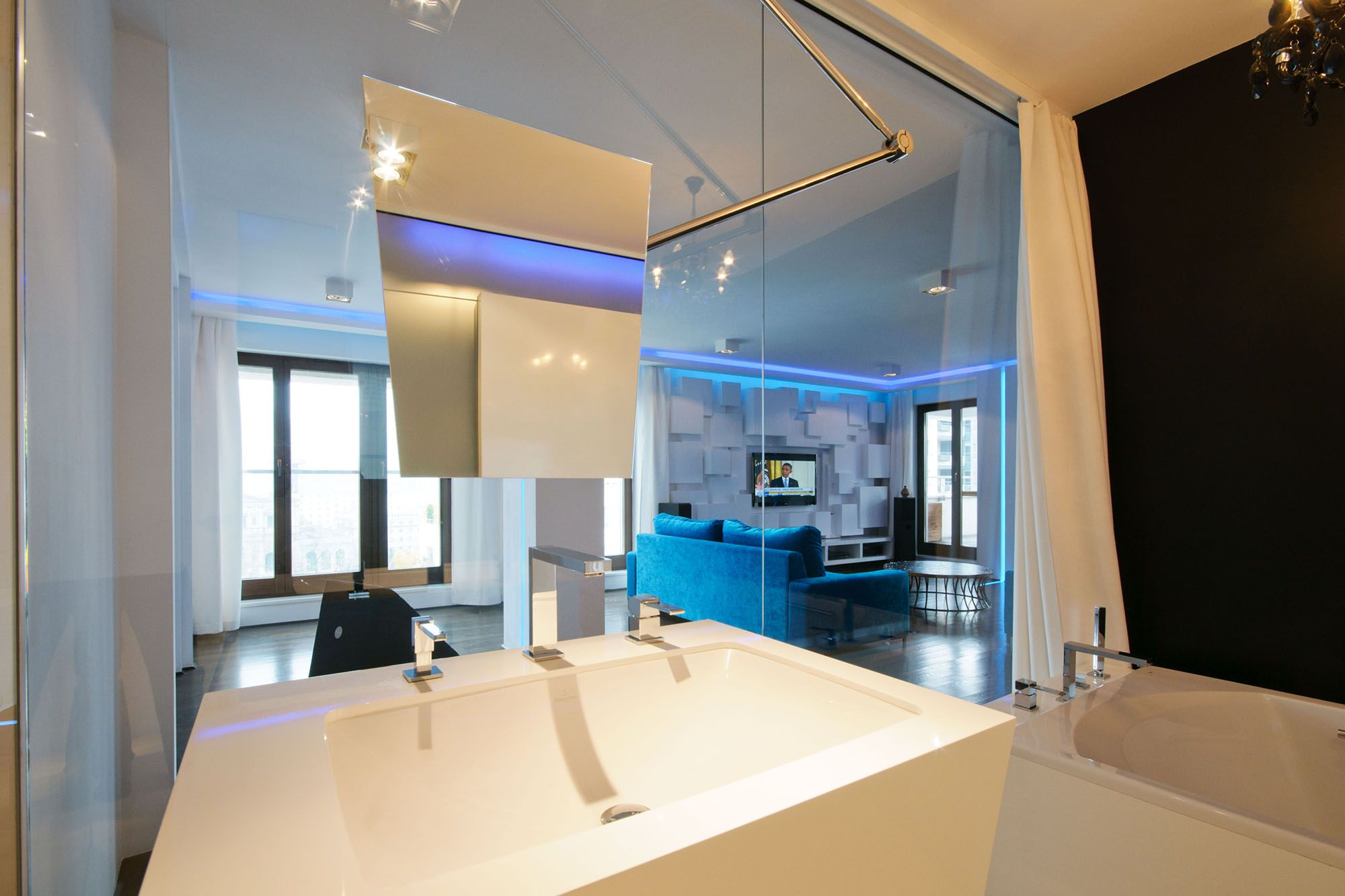 apartment in the heart of warsawhola design - caandesign