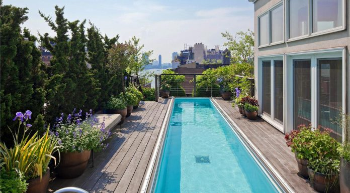 Two-Story Penthouse with Stunning Roof Terraces and Swimming Pool in Tribeca