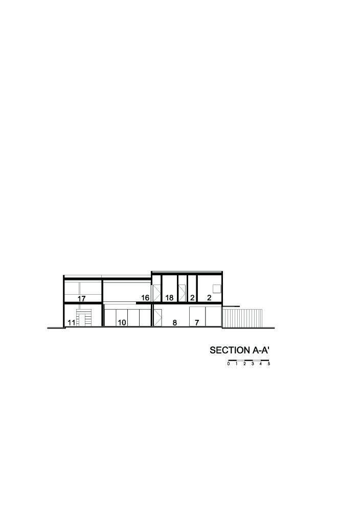E House Section A-A'