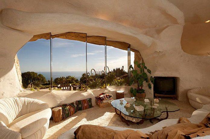 Dick Clark's Unique Flintstone-Style House For Sale in Malibu