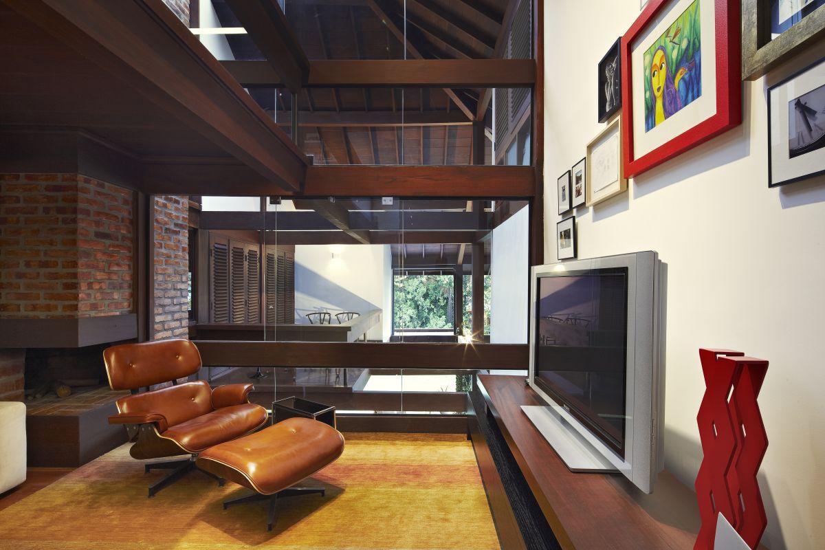 Modern Homes Interior Garden House By David Guerra Architecture And Interior