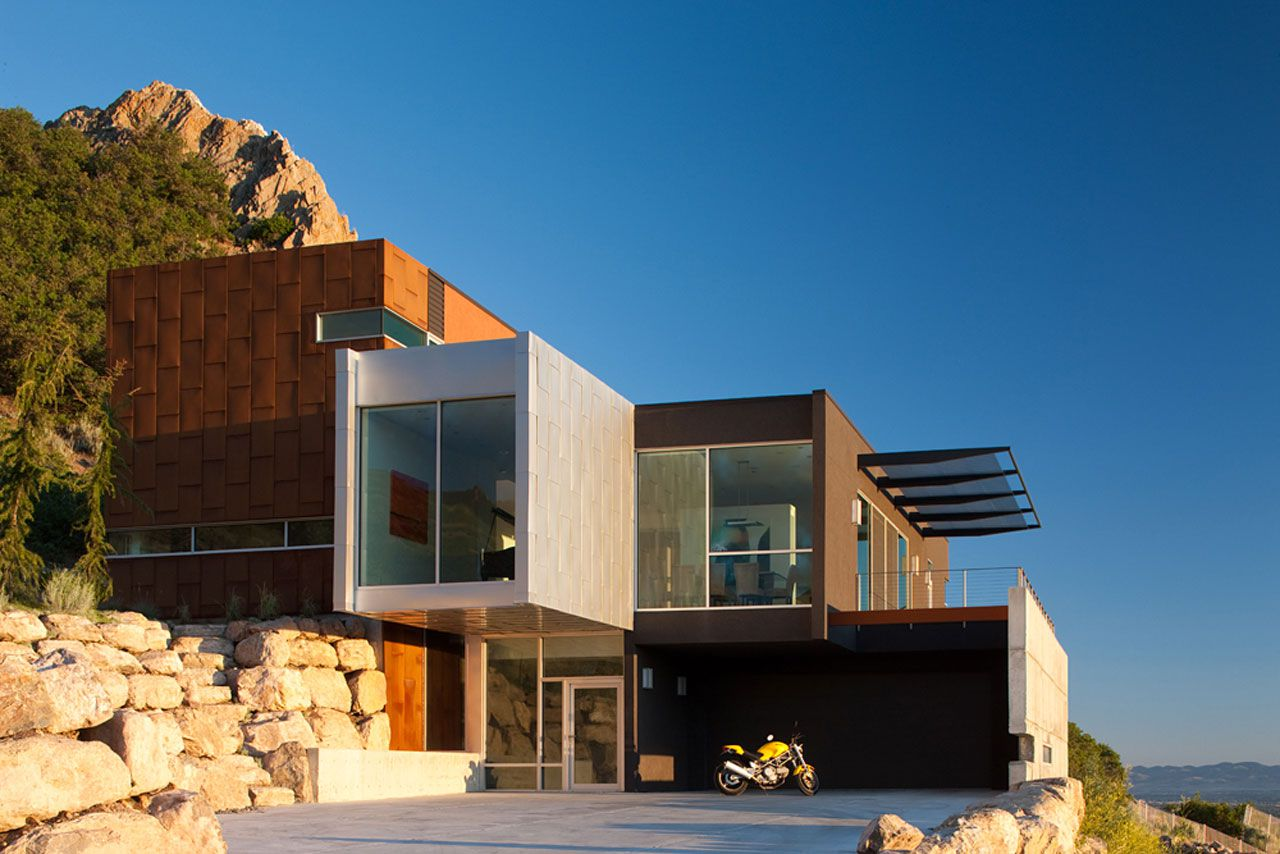 H house by axis architects caandesign architecture and home design blog - Houses overhang practical design ...
