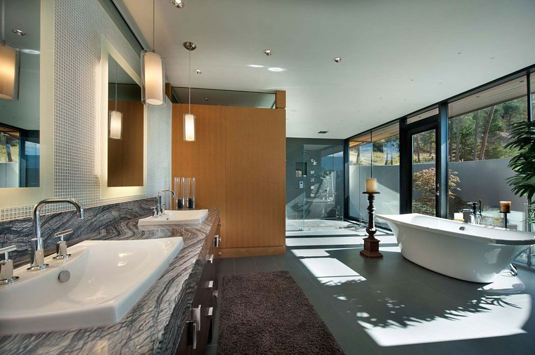 Custom private home in british columbia by david tyrell for Pool design kelowna