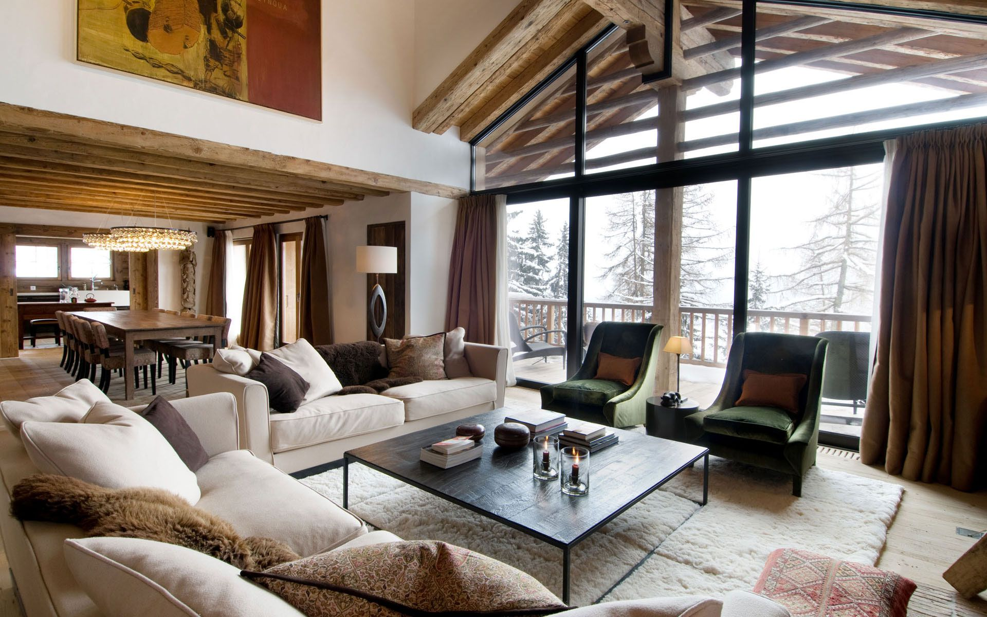 Luxury chalet dent blanche in valais caandesign for Design hotel ski