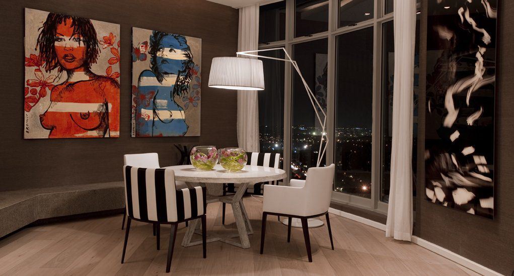 Luxury sandhurst towers penthouse in johannesburg by saota for Home decor johannesburg