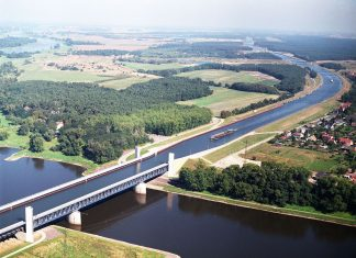 Magdeburg Water Bridge, the Longest Navigable Aqueduct in the World