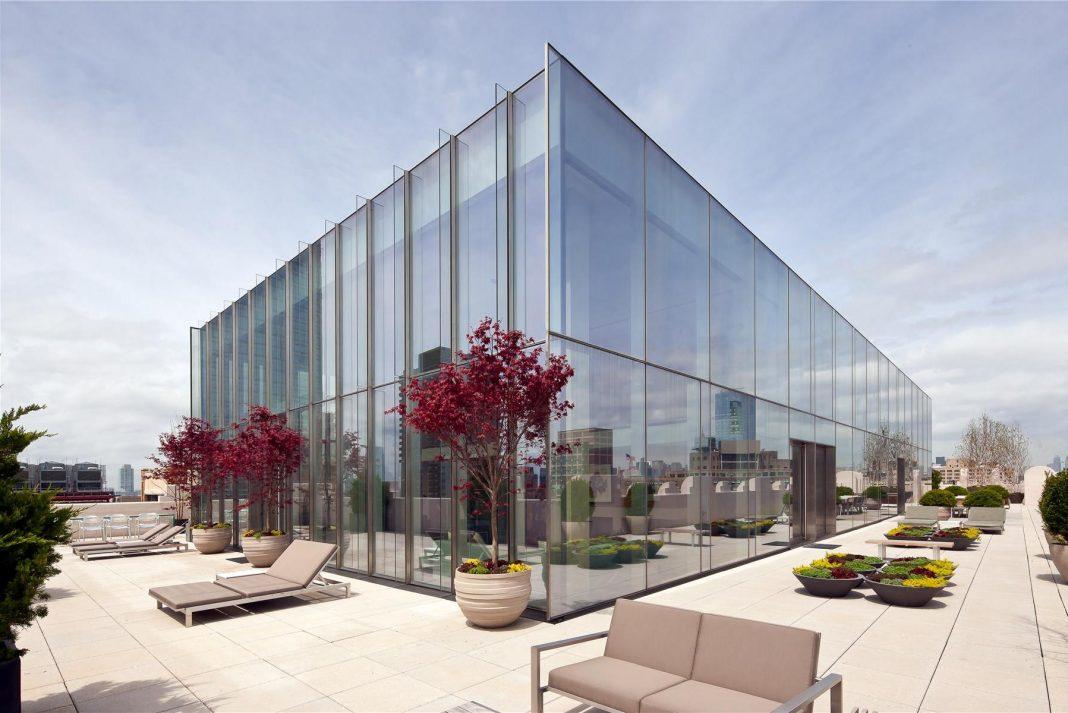 Modern Full Glass Skyloft Penthouse in Tribeca