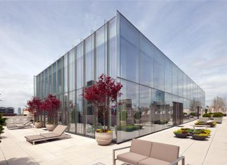 Modern Full Glass Skyloft Penthouse in Tribeca