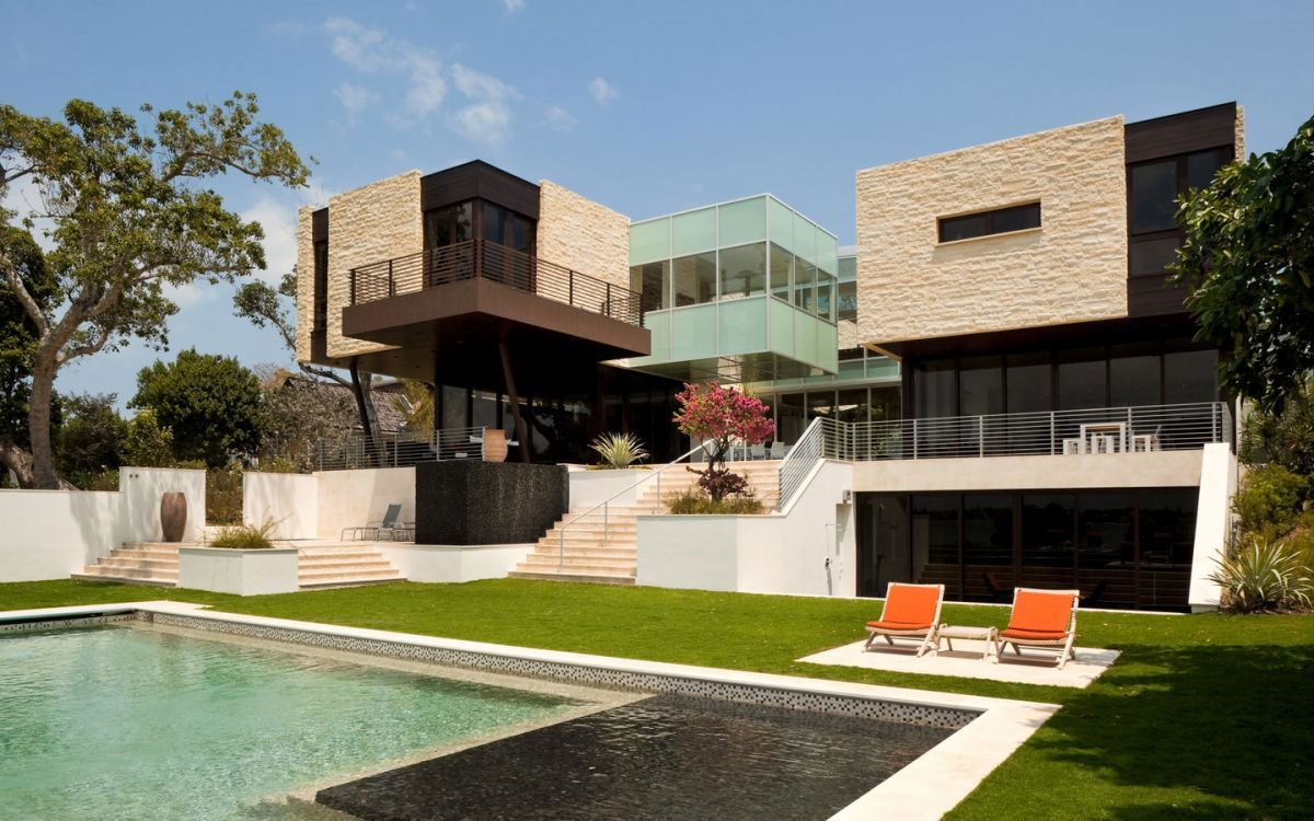House design near river - The River Road House 7