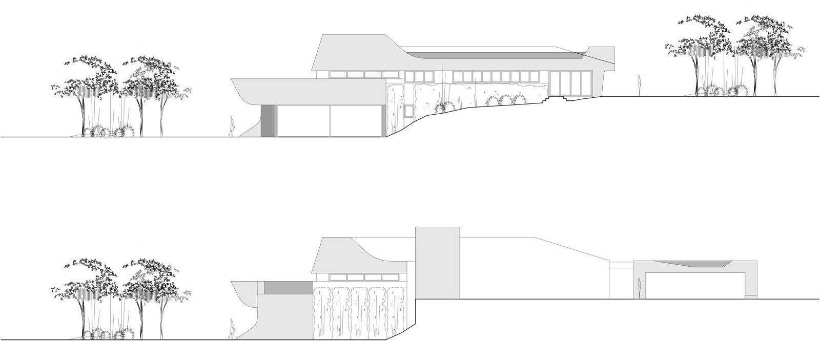 N Home Elevation Zone : Ultramodern b n house by a cero caandesign