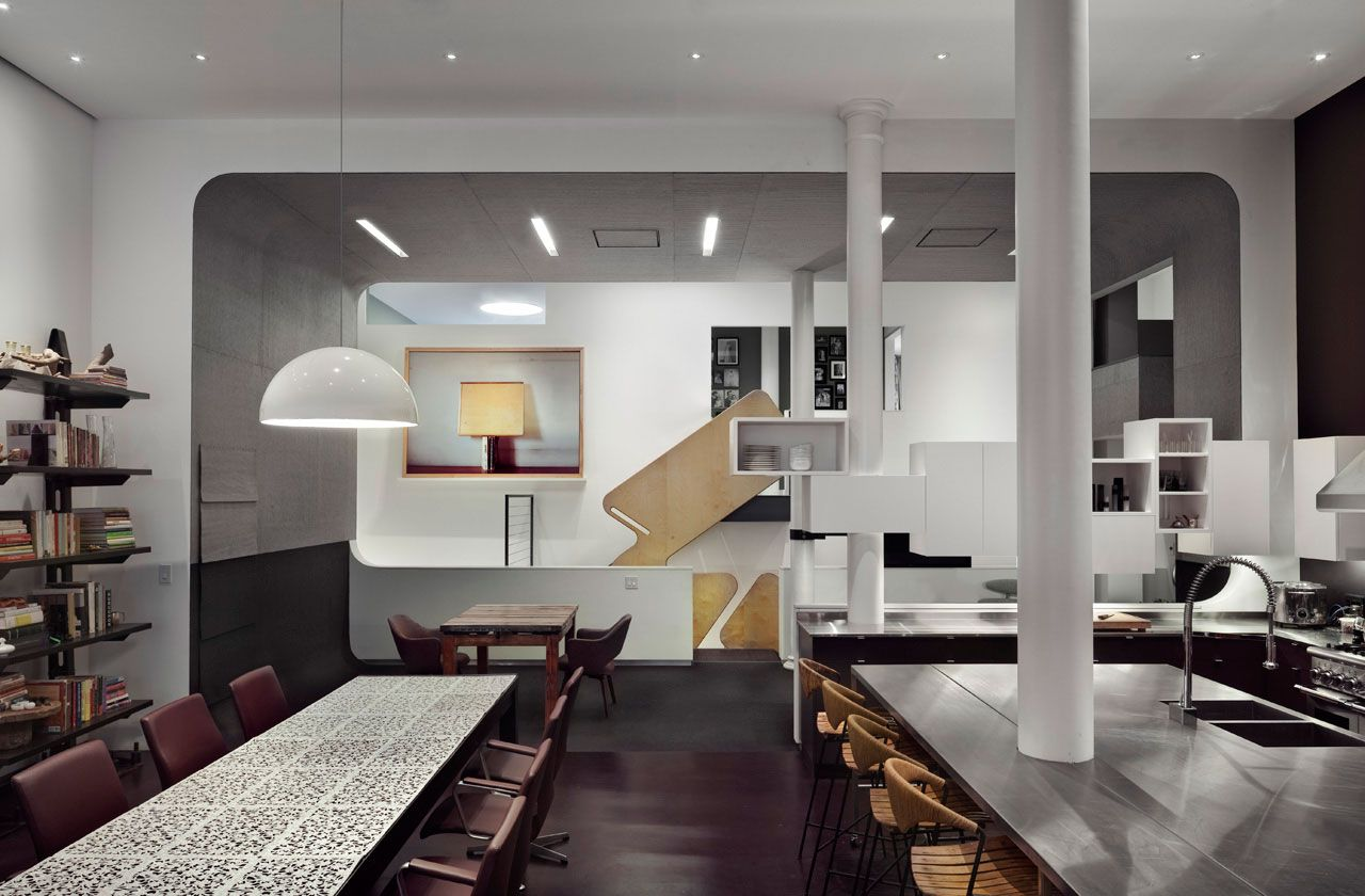 White street loft in new york city by workac caandesign for Loft apartments in nyc
