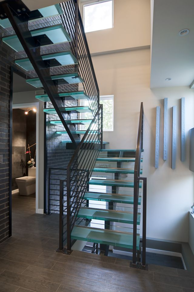 first floor-staircase-powderroom