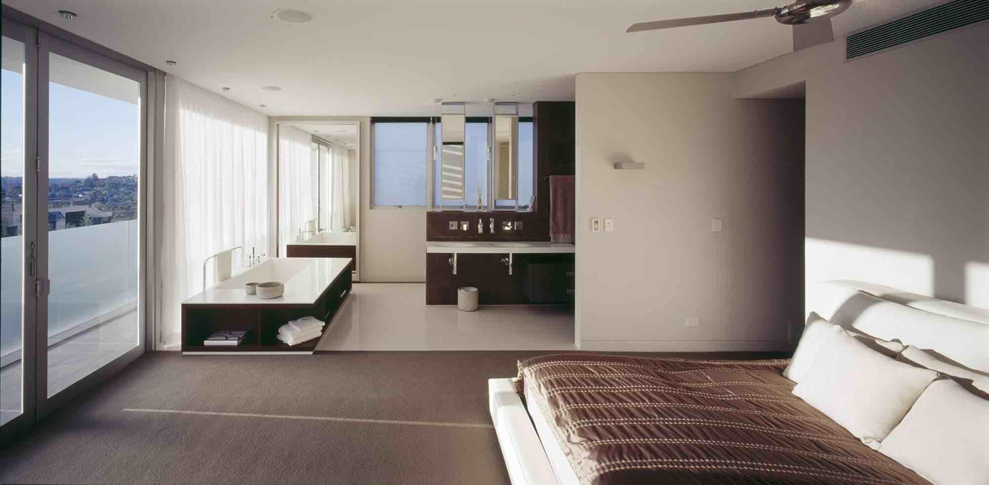 minosa-design-open-plan-ensuite-parents-retreat-dover-heights-portland-st-scooped-double-rifra-freestanding-corian-bath-shear-curtain-bathroom-01