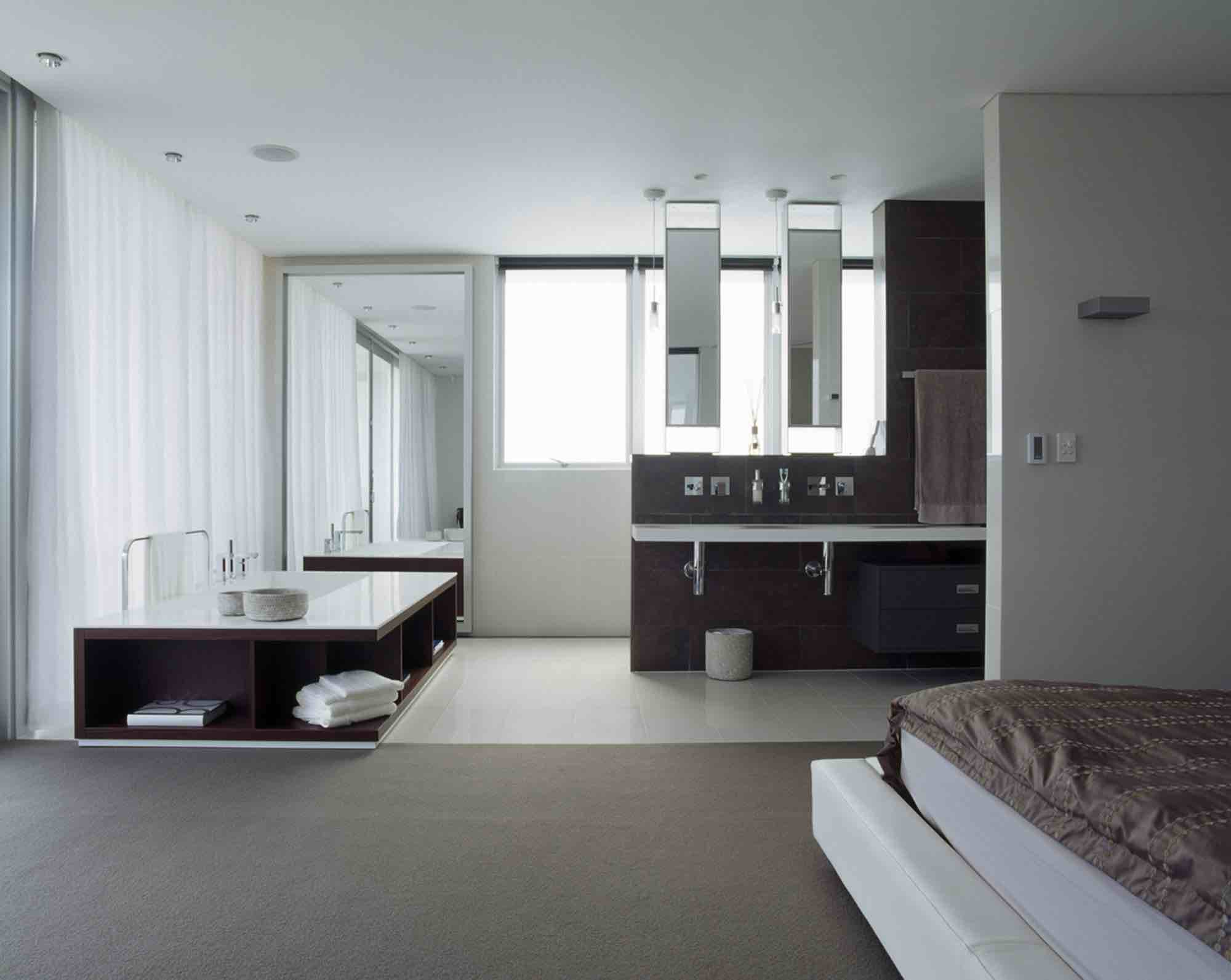 minosa-design-open-plan-ensuite-parents-retreat-dover-heights-portland-st-scooped-double-rifra-freestanding-corian-bath-shear-curtain-bathroom-03