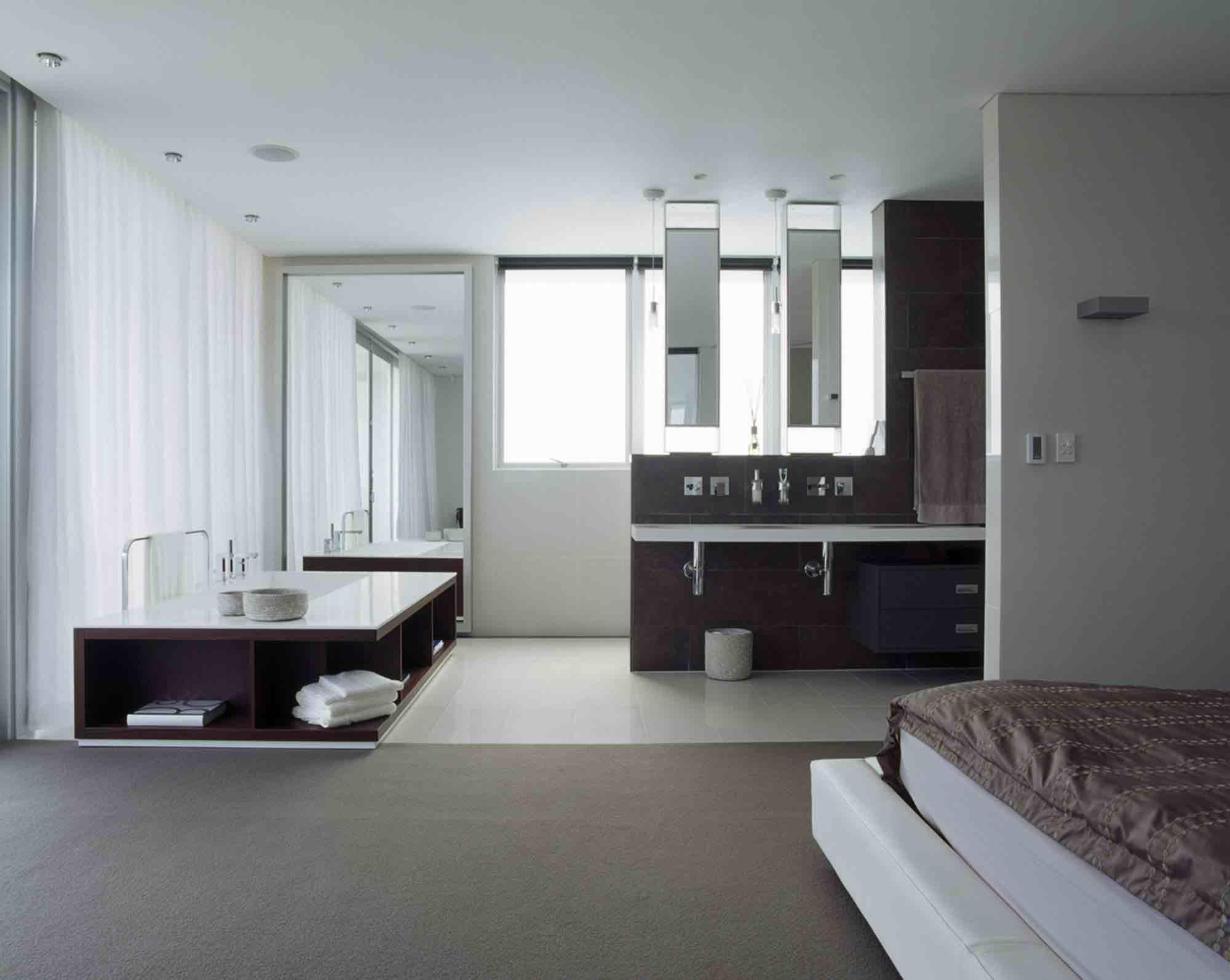 Open plan ensuite bathroom ideas -  Minosa Design Open Plan Ensuite Parents Retreat Dover