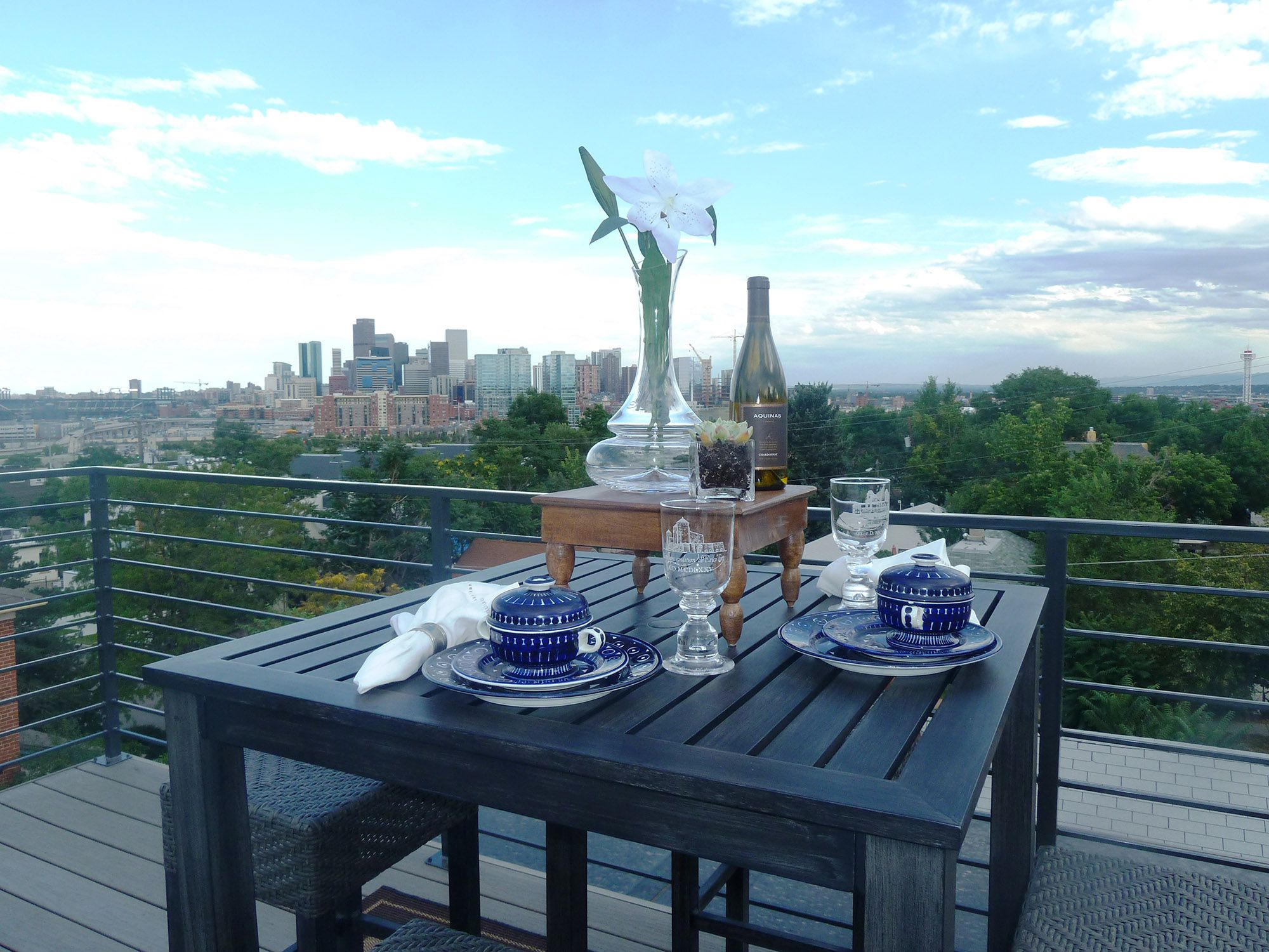 rooftop patio_view of Downtown Denver