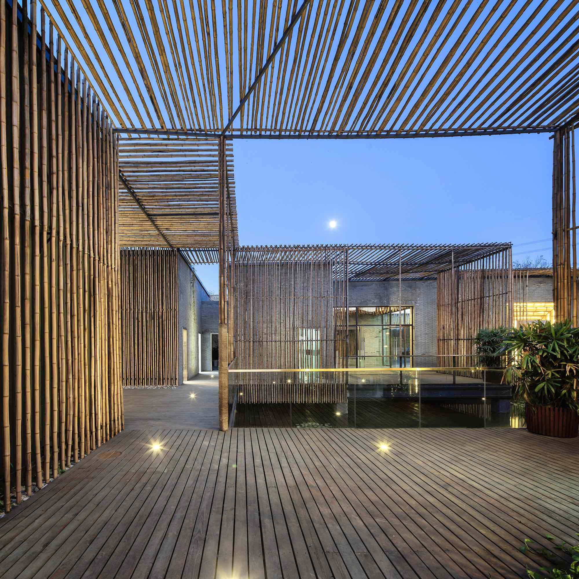 Bamboo Courtyard Teahouse By Hwcd Caandesign