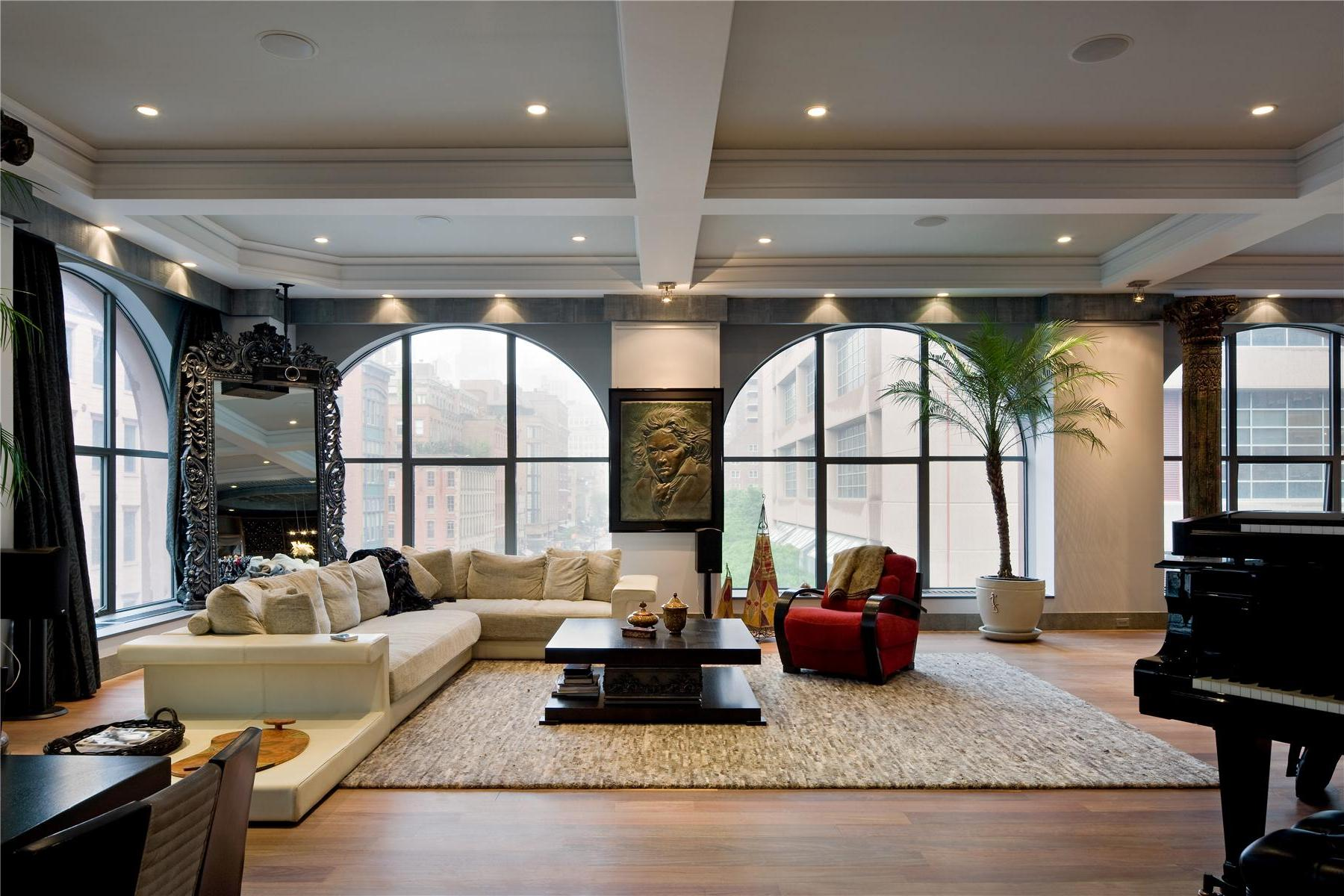 Urban loft style apartment for big family in new york city - Contemporary 408 Greenwich Street Loft In New York Caandesign
