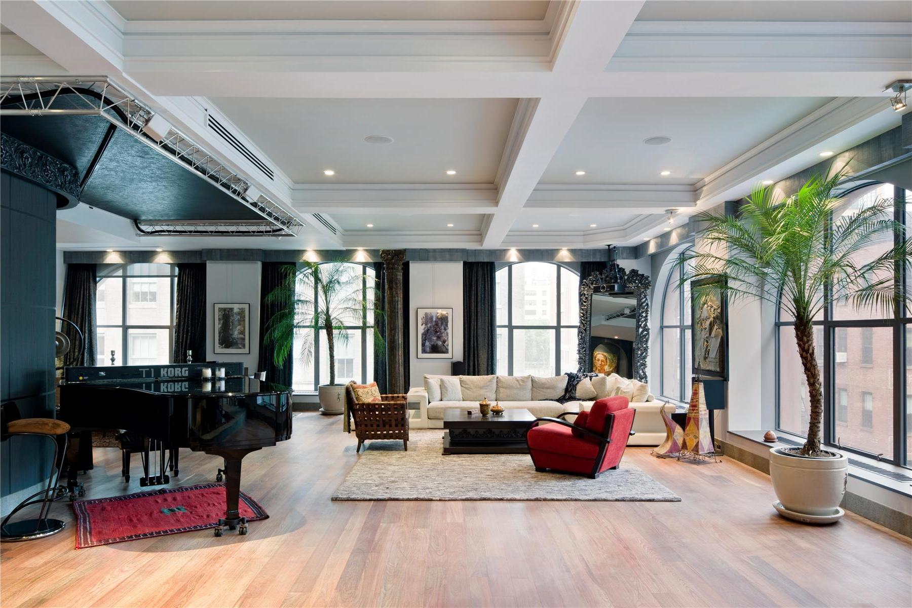 Contemporary 408 greenwich street loft in new york for Real estate in tribeca