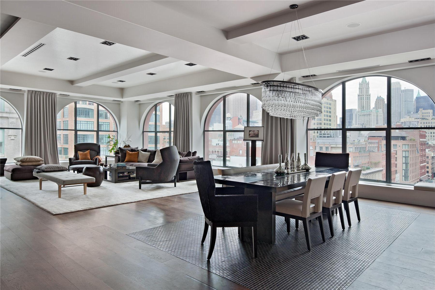 Manhattan penthouses for sale fivestory tribeca penthouse for Tribeca homes for sale