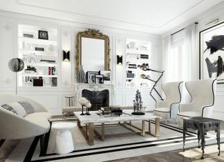 Stylish Apartment in Saint Germain by Ando Studio