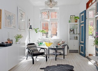 Artistic Scandinavian Design Clutter in a 550-Square-Foot Apartment by Johanna Laskey