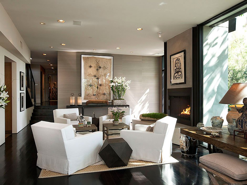 Contemporary home meets traditional accents on sunset - Architecture interieurs contemporains sunset strip ...