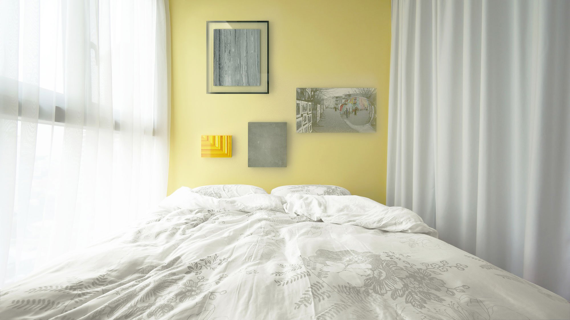 What Color Curtains Go With Yellow Walls. Stunning Yellow Turquoise ...