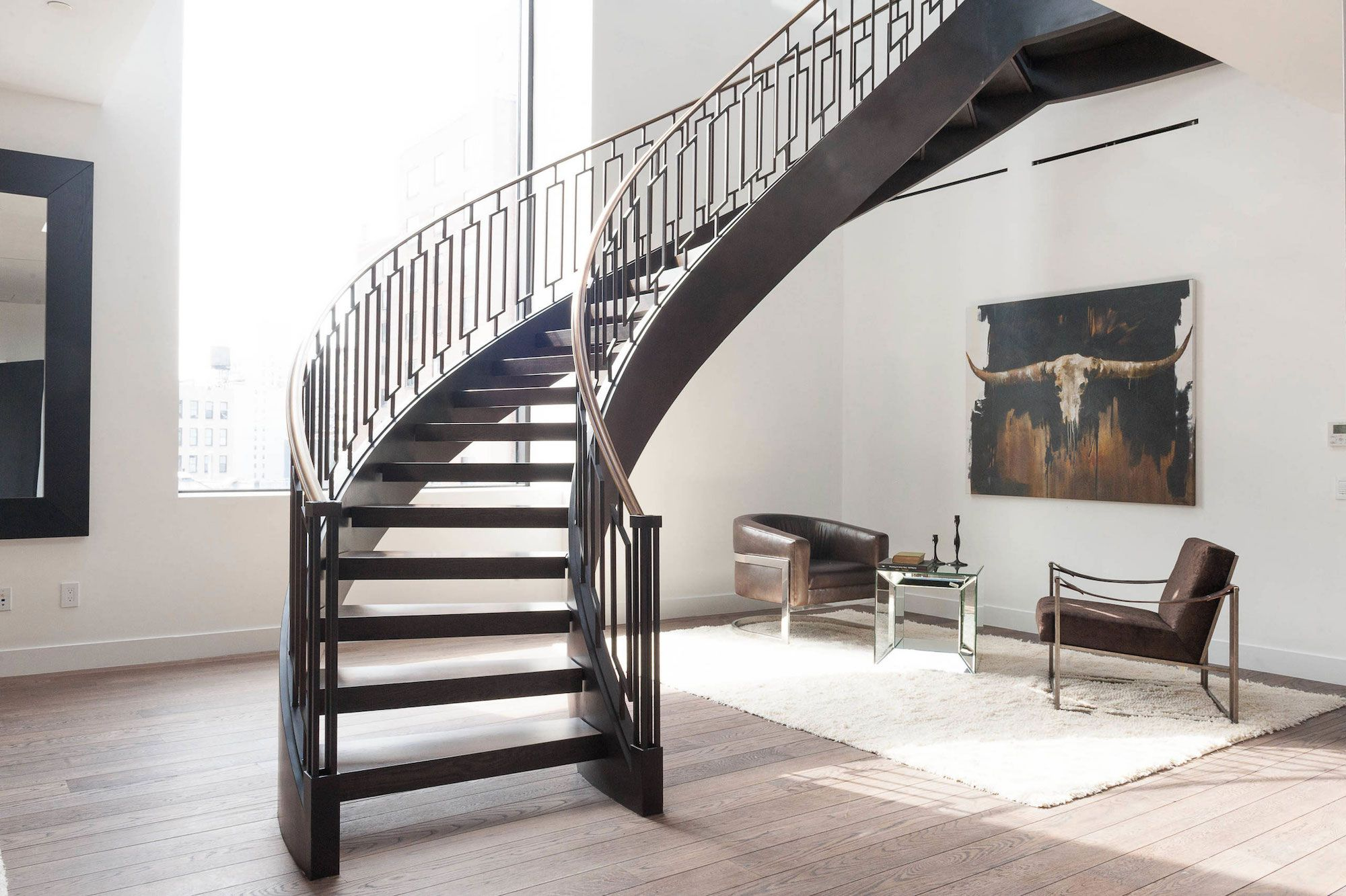 66 east eleventh street penthouse in new york by delos - Escalier interieur design ...