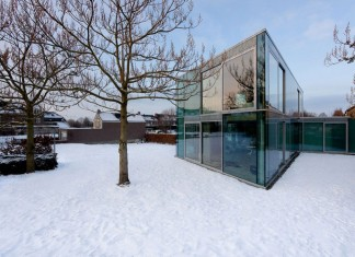 Glass and Concrete H House by Wiel Arets Architects