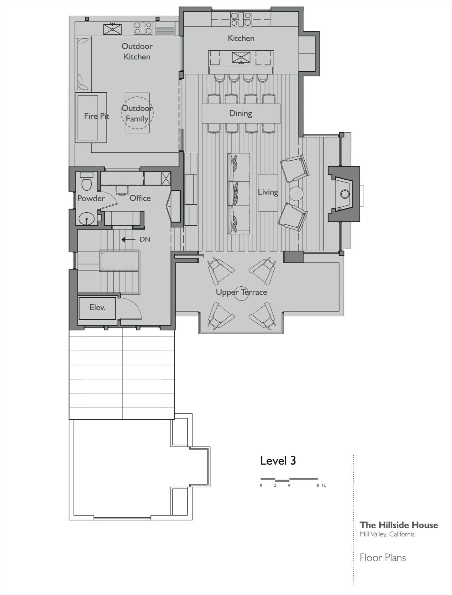 Hillside house by sb architects caandesign for Hillside floor plans