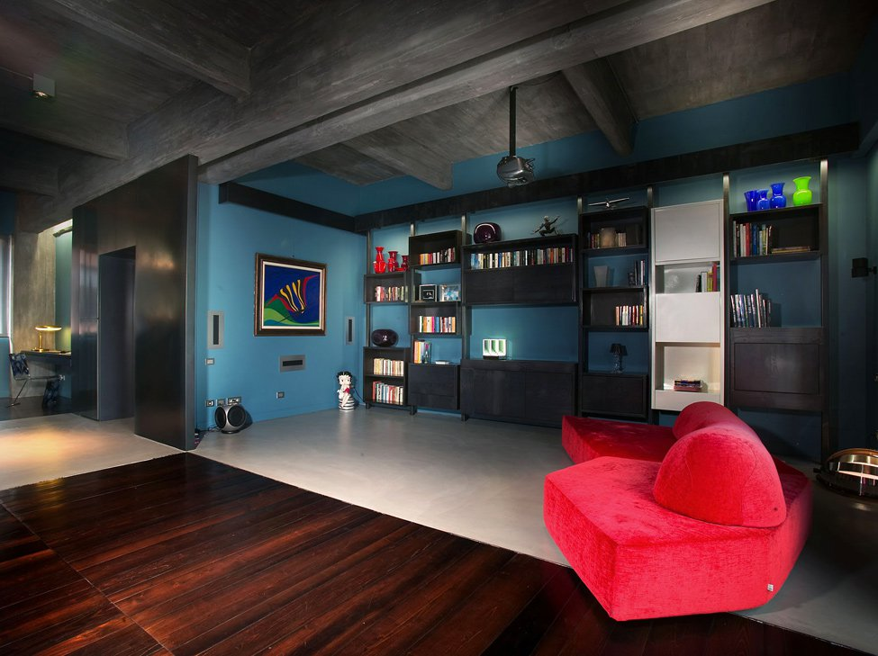 Turin Bachelor's Loft Interior by MG2 Architetture