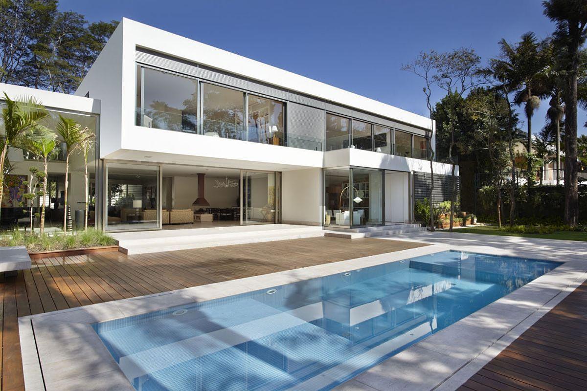 The morumbi residence by drucker arquitetura caandesign - Planos de casas minimalistas ...