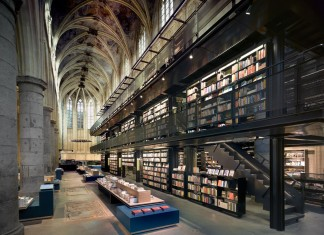 13th century Dominican Church Converted Into Contemporary Bookstore by Merkx+Girod Architecten