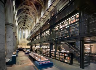 13th century Dominican Church Converted Into Contemporary Bookstore by Merkx+Girod Architecten
