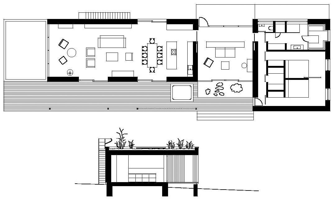 Weekend house by marketa cajthamlova caandesign for Weekend cabin plans