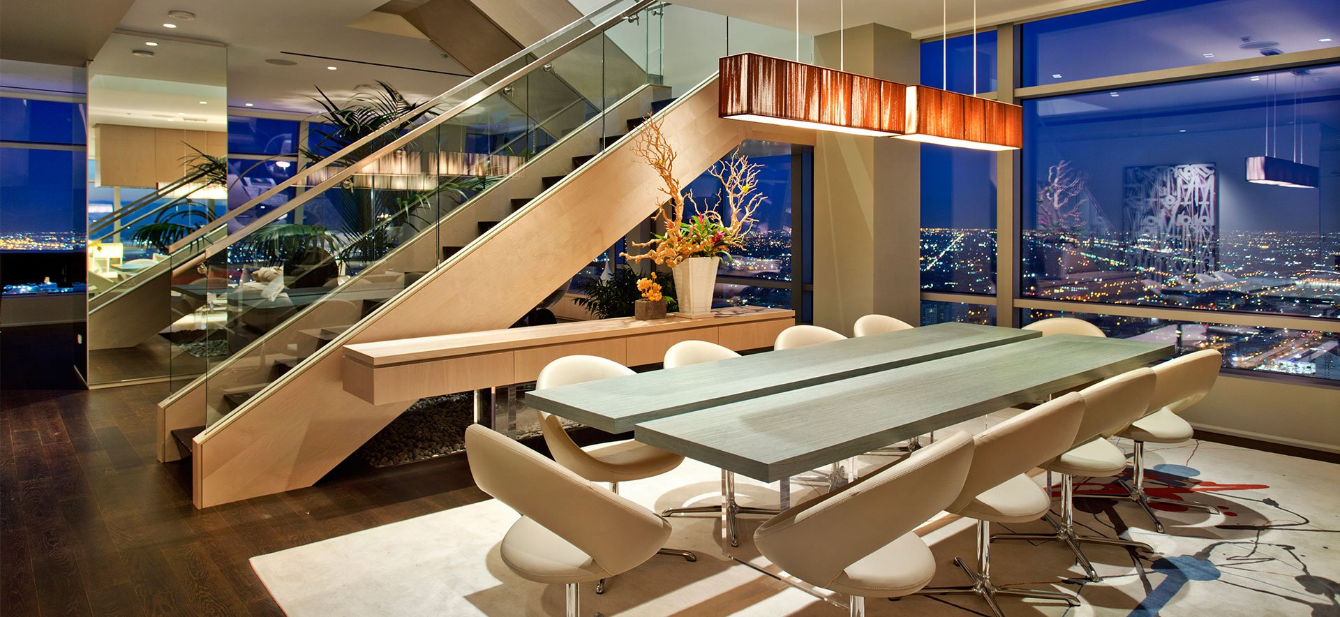 51a duplex penthouse atop the ritz carlton residences in for Penthouse in los angeles