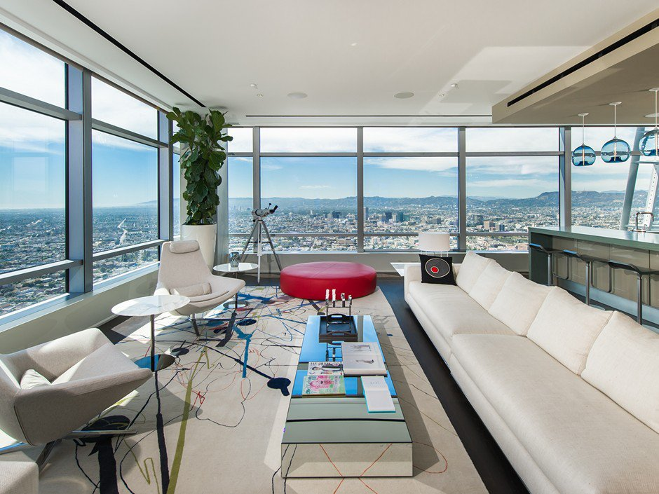 51a Duplex Penthouse Atop The Ritz Carlton Residences In Los Angeles Caandesign Architecture