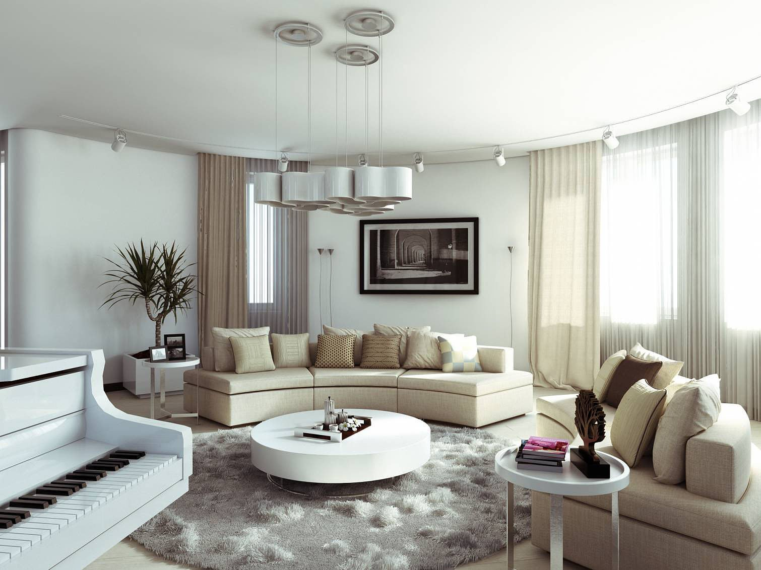 Apartment design in moskovyan plaza by ithaka for Apartment interior design ideas pictures