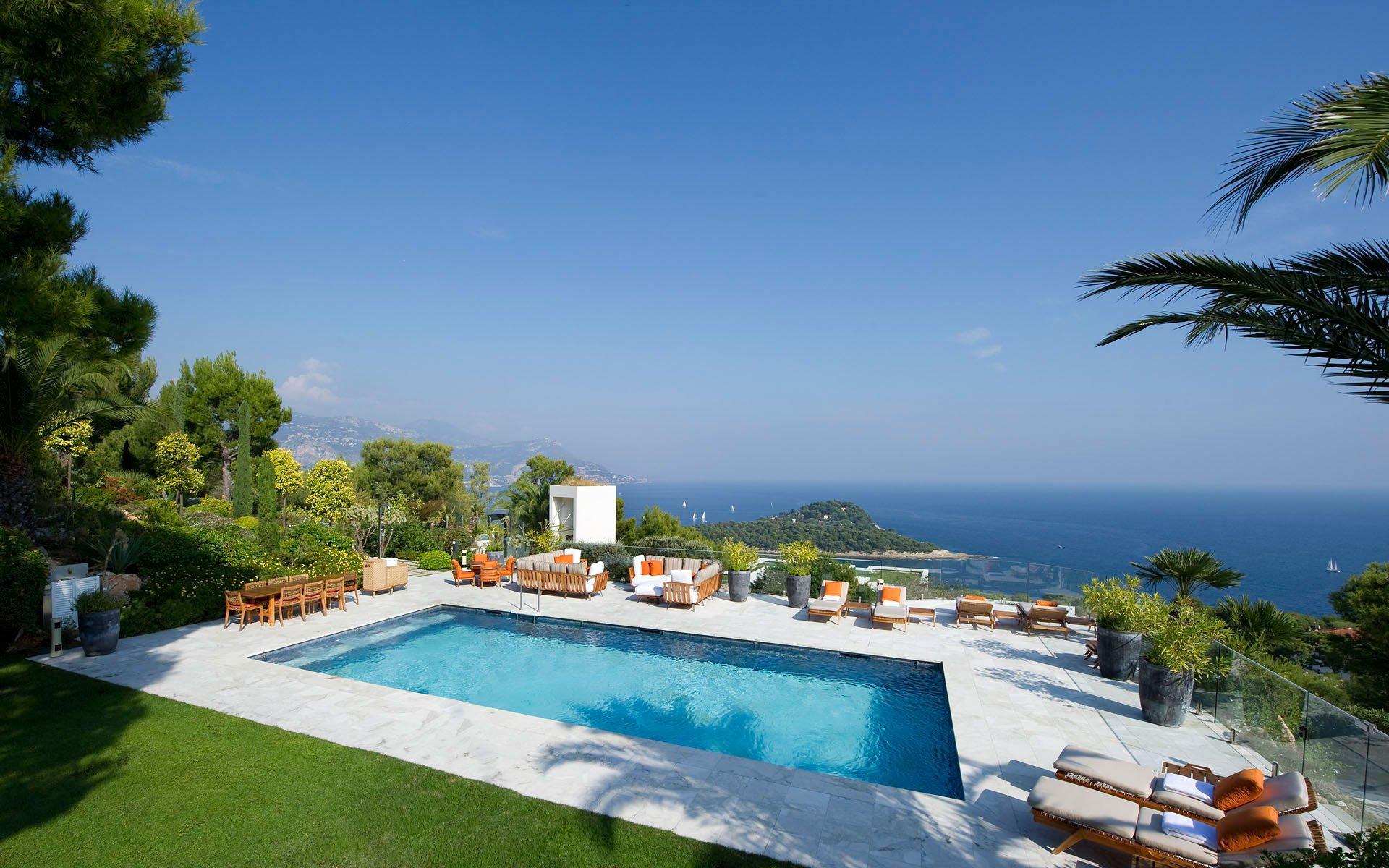 luxury mediteranean cview villa in st jean cap ferrat caandesign architecture and home. Black Bedroom Furniture Sets. Home Design Ideas