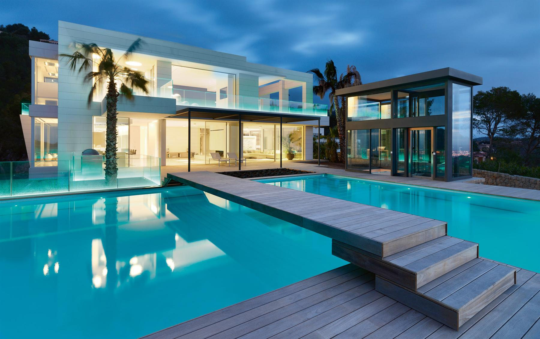 luxury chameleon villa in majorca spain caandesign. Black Bedroom Furniture Sets. Home Design Ideas
