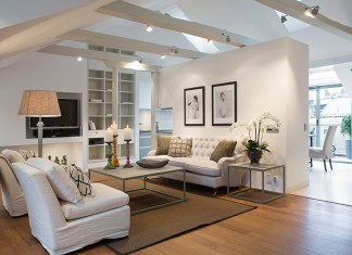 Elegant Scandinavian Loft Design by Karlaplan