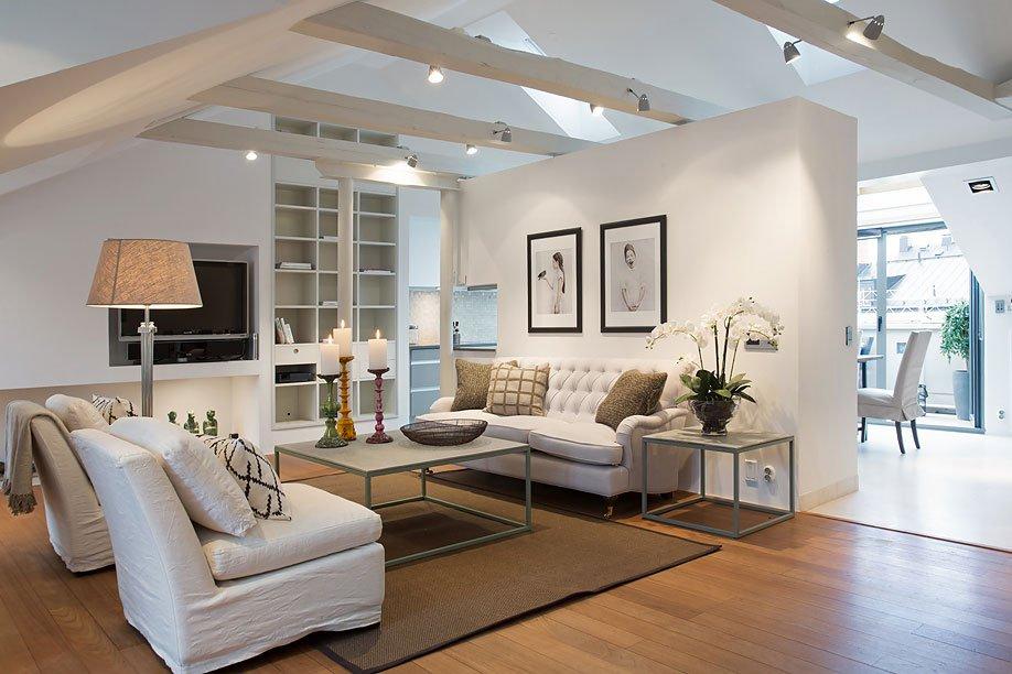 Elegant scandinavian loft design by karlaplan caandesign - Casa tipo loft ...